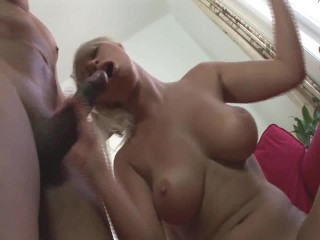 Step daddy fucks beautiful young blonde hot daughter with big tits and cums