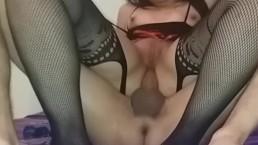 Hot slut loves riding a cock deep in the ass