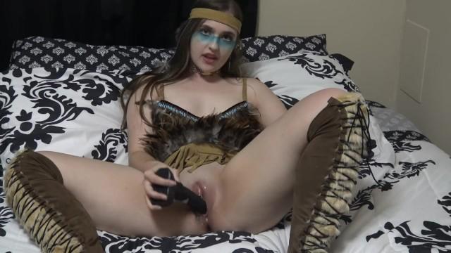 Native american fucking - Little native american girl fucking a horse cock