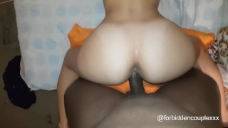 Behind chick it from white likes rough cock black