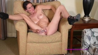 Girl solo dirty shaved stockings