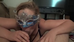 Gorgeous Masked Milf Deepthroat and Tit Fuck