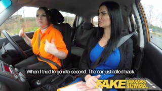 Driving on school pussy examiners test busty excon lesbian hot eats fake girl lesbian