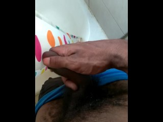 Horny young man