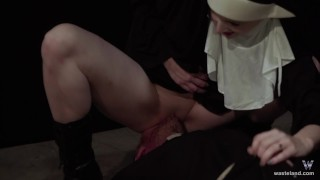 Hot Nun Gives Blowjob & Femdom Face Sitting  fem dom face sitting facesitting cosplay femdom nun blonde sister kink brother baddragon2017 religious priest role play delrawr reverse prayer