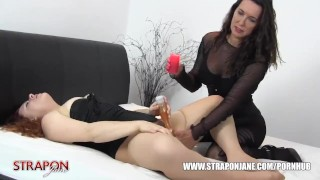 Femdom Strapon Jane spanks slut pussy toys face fucks and missionary sex  hot wax face fuck big tits spanking strapon bdsm femdom masturbate amateur domination hardcore milf brunette bondage toying missionary adult toys straponjane
