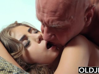 Pretty Young Bite Of Cum And Anal Sex With Grandpa's Cock