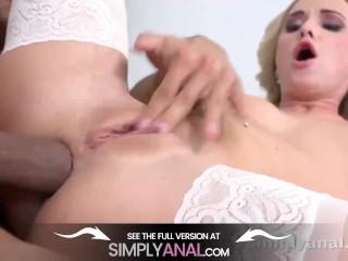 Simplyanal - Hot blonde Vinna reed gets a good ass fucking