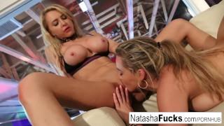 Lesbian beauties Natasha and Alix play together