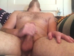 young stud Tommy Banks strokes his big hard dick until he cums
