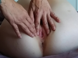 CLOSE UP CREAM PIE MISSIONARY PULSATING ORGASM CREAMY PAWG S-DAUGHTER GAPE