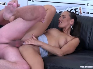Pornohub Francais Fucking, Super hot pornstar MeA Melone ride agents cock with her ass & get creampi