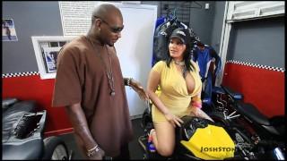 Big tit latina fucked hard by black cock