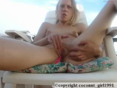 Hot Blonde fingers herself coconut_girl1991_111216 chaturbate LIVE SHOW REC