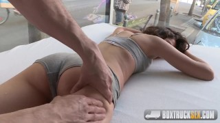 Masseuse the lia beautiful fucks blonde shaved