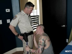 NextDoorRaw Lance Ford punished by Officer Dean