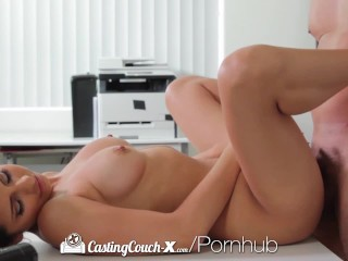 CastingCouch X Brunette Nina North fucked by casting agent
