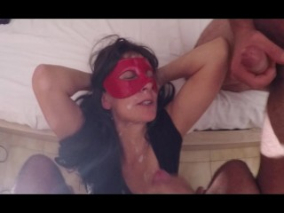 Best blowjobvideo loversmagic ass fuck masked wife masked gangbang masked amateur wife am
