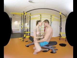 Belle Claire rides you in the gym and requires anal sex instantly