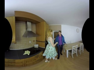 Anny Aurora in a hot vintage housewife scene in VR