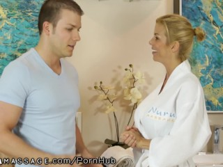 Real Bi Couples Cumshot NuruMassage Alexis Fawx Nurses Shy Young Man s Cock