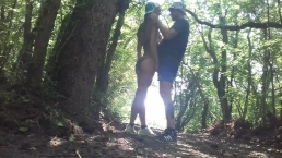 Real sex in the forest with Sasha Bikeyeva