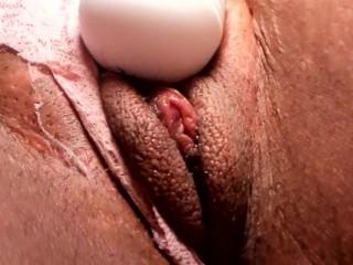 Masturbating until beautiful pussy cums