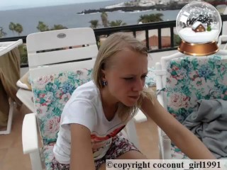 Slim Teen Model Balcony coconut_girl1991_091216 chaturbate REC
