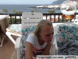 Wind on my little balcony Skirt wach coconut girl1991 091216 chaturbate REC