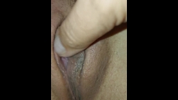 Close up wet puffy pussy