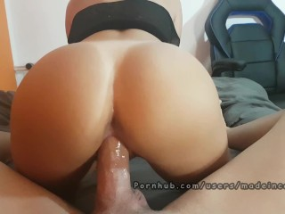 My British Wife Multiple cumshot. Creampie and ruined orgasm. Made in Canarias