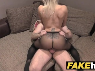 Fake Agent Uk Horny Milf Cute With Shaved Pussy Sucks And Fucks Agent