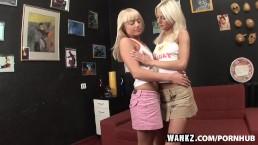 WANKZ- Slender Blondes Licking Ass