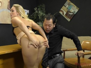 Loan Officer AJ Applegate Makes The Applicant Lick Her Asshole For a Loan