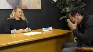 Preview 3 of Loan Officer AJ Applegate Makes The Applicant Lick Her Asshole For a Loan