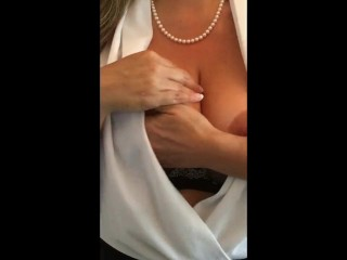 Sexy Milf Candi Chace Ice Boobs