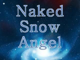 Tiny Blonde Girl Naked Snow Angel