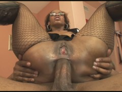 Young Big Booty Ebony Teen Gets Stuffed By Two Huge Black Cocks