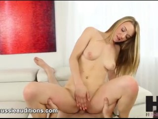 Hussie Auditions: Hot Blonde Teen Molly Mae's First Sex Scene