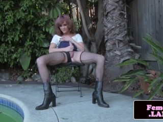 Babysitter caught and punished milf slave rough Poor little Jade Jantzen,