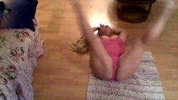 in my dance leotard playing with my toy :)