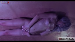 18yo YanaK performing EROTIC oily striptease and touching Herself !