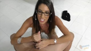 Talking on her using dirty foxx dava a cock hands while facial brunette