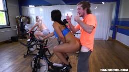 BANGBROS - Latina Rose Monroe's Sexercise Spin Class (ap16089)