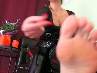 Small-dicked losers deserve to touch only My feet