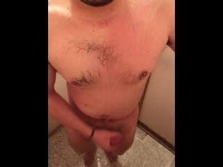Masturbating with soap in the shower