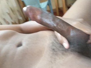 Sloppy Messy POV Handjob With A Huge Load At The End