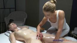 Massage Rooms Perfect Feet French Teen Lesbian Has deep sensual Orgasm