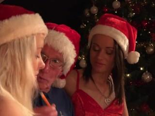 Fucks Ass Pussy video: Santa Fucks Teen Helpers Spanks their ass and fucks pussy like crazy