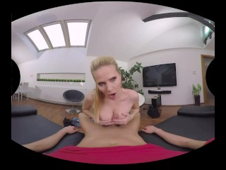 Blonde mature Lilly Peterson in unique VR movies